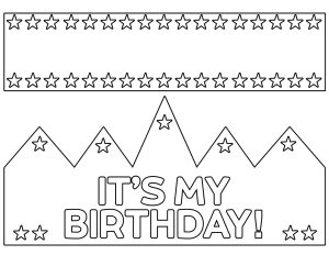 "Printable birthday crown that says ""It's my birthday"""