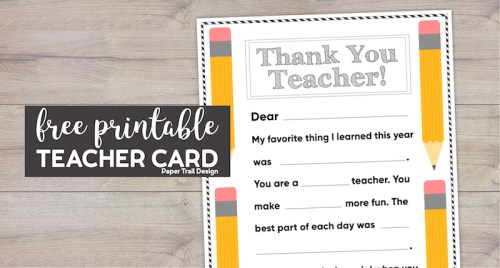 Thank you teacher fill in personalized card printable with text overlay- free printable teacher card.