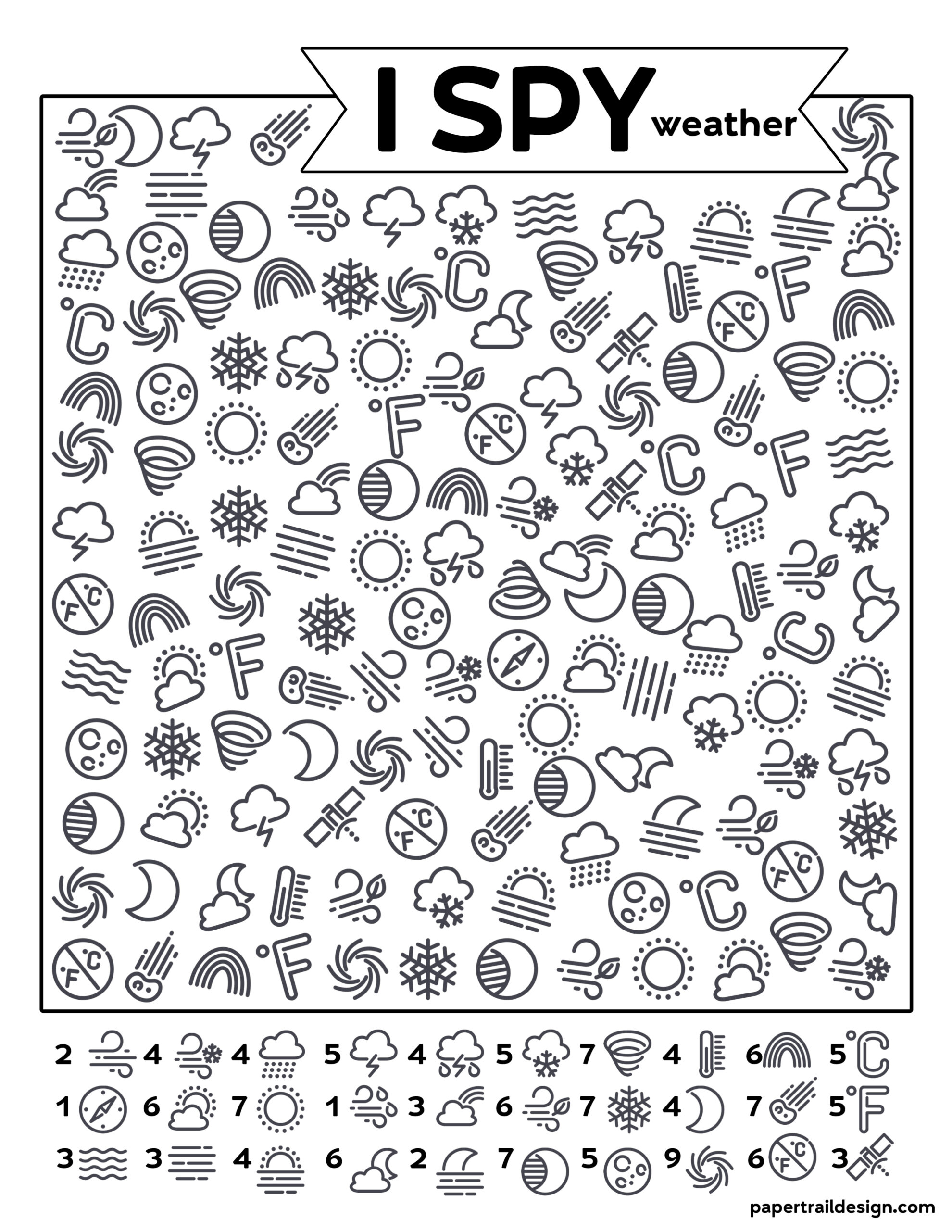 Free Printable I Spy Weather Activity