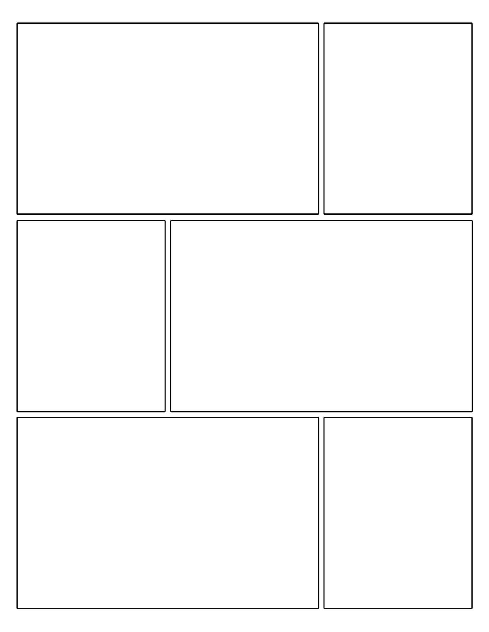 Free Printable Comic Strip Template Pages