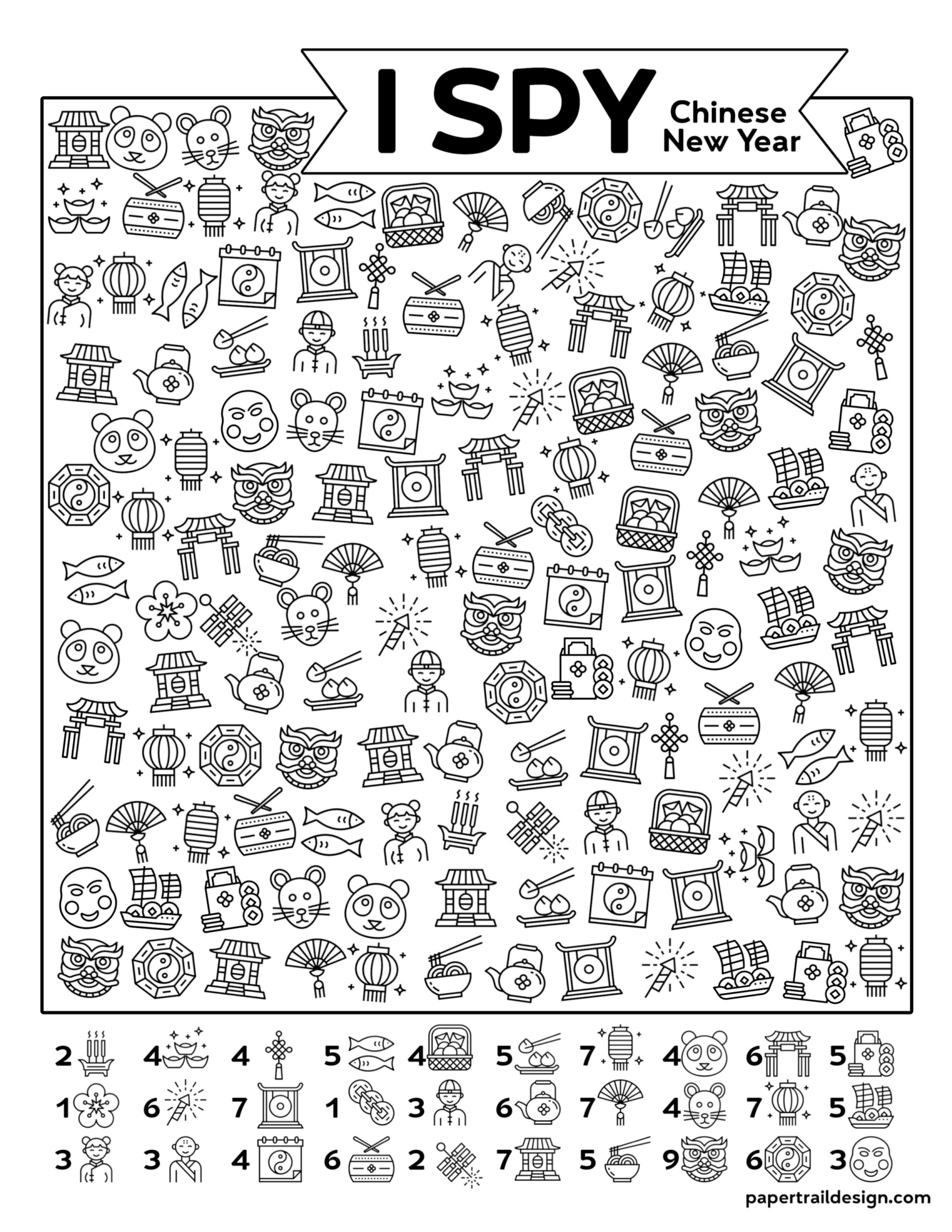 Free Printable I Spy Chinese New Year Activity