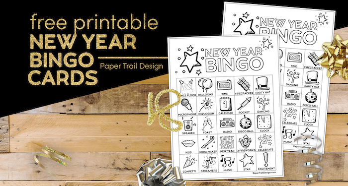 Free Printable New Year's Bingo Cards