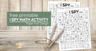 Free Printable I Spy Math Activity