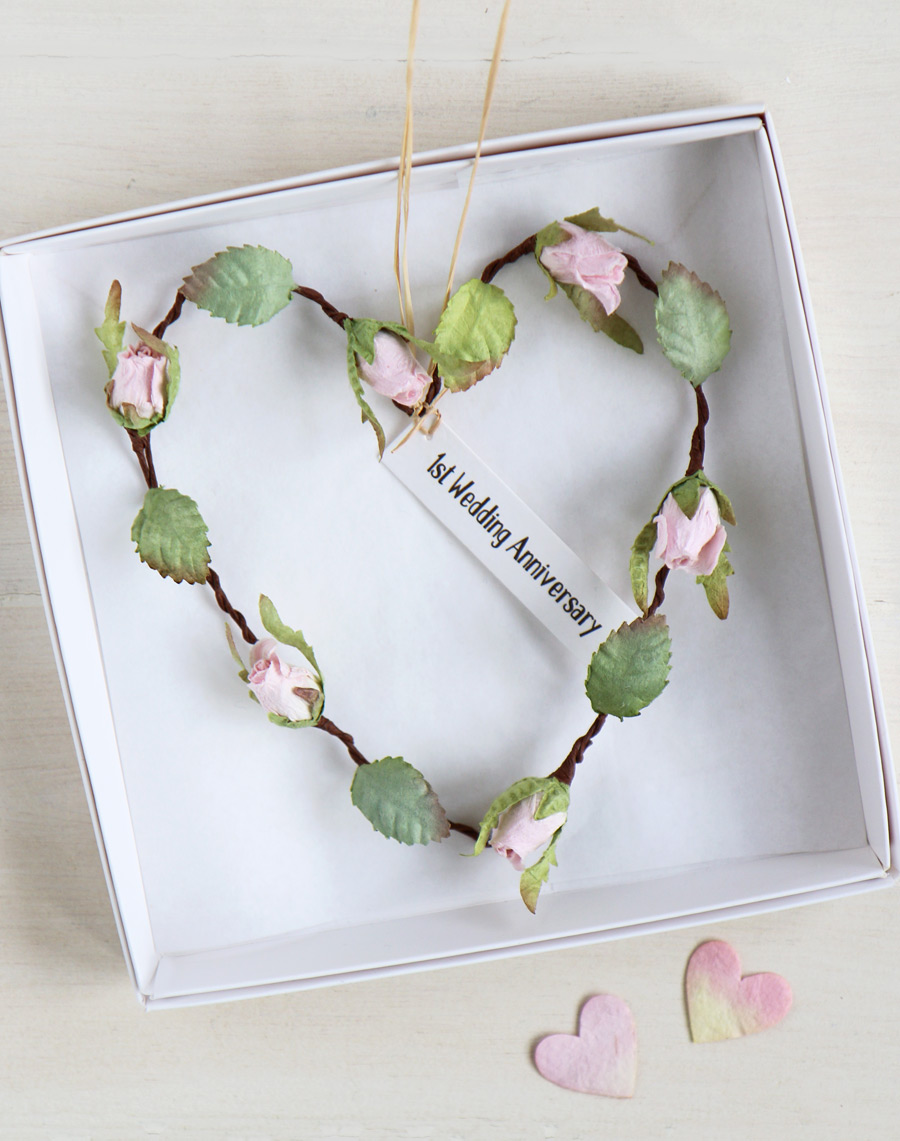 First Anniversary Paper Heart Paper Wedding Anniversary Gift