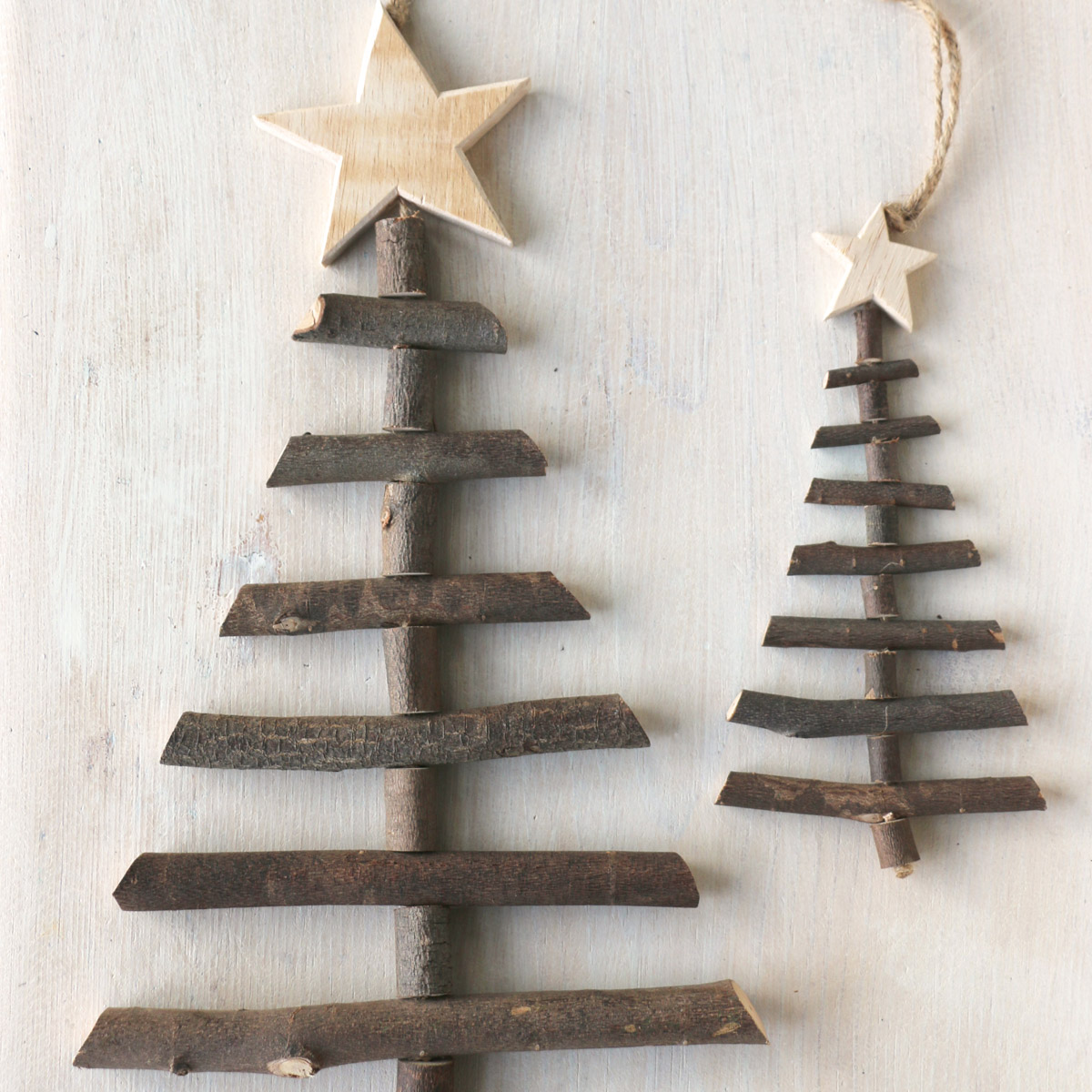 Twig Tree Christmas Decorations Rustic Style Trees
