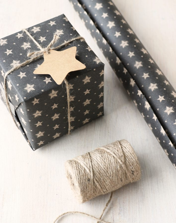 Black Star Wrapping Paper Paper Tree