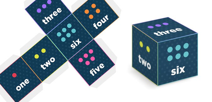 printable dice for games classroom school free