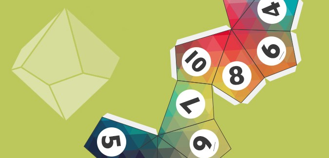 graphic relating to Printable Dice named 10-Sided Cube Template - PAPERZIP