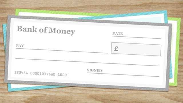 photograph regarding Printable Abundance Check titled Blank Cheque Templates - PAPERZIP