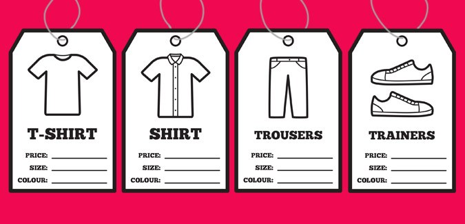 clothes tags free learn shopping