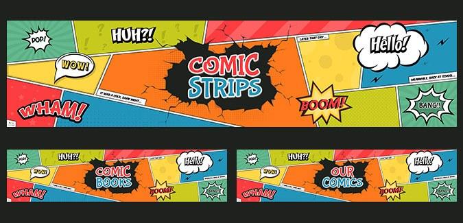 free comic banner classroom printable
