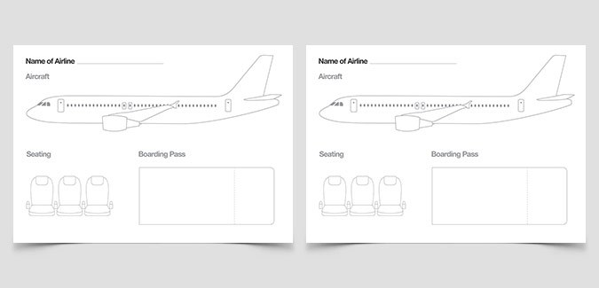 create airline design kids classroom