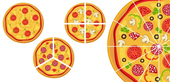 learn fractions pizza slices free download