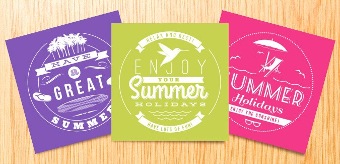 free printable summer note cards