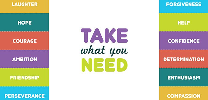 graphic regarding Take What You Need Printable known as Choose what on your own require - PAPERZIP