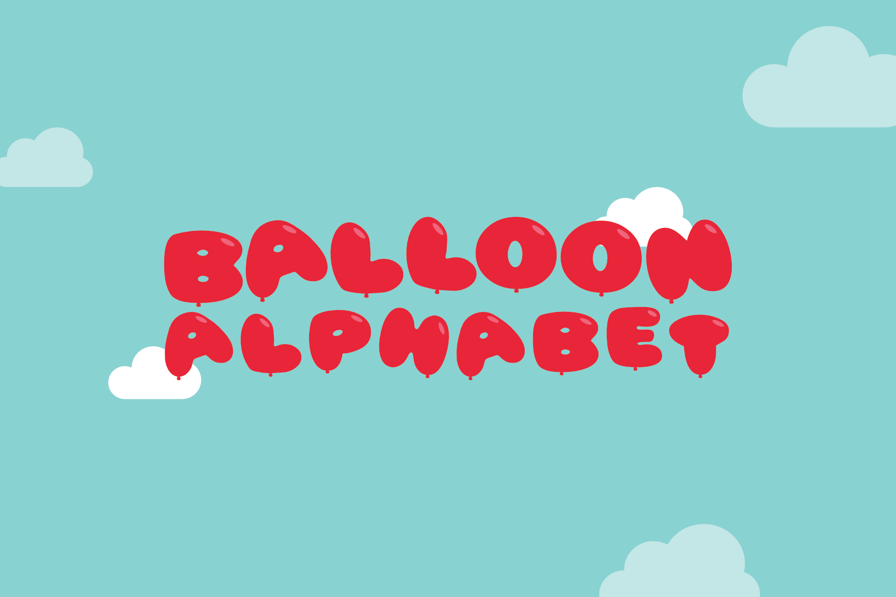 printable balloon alphabet free