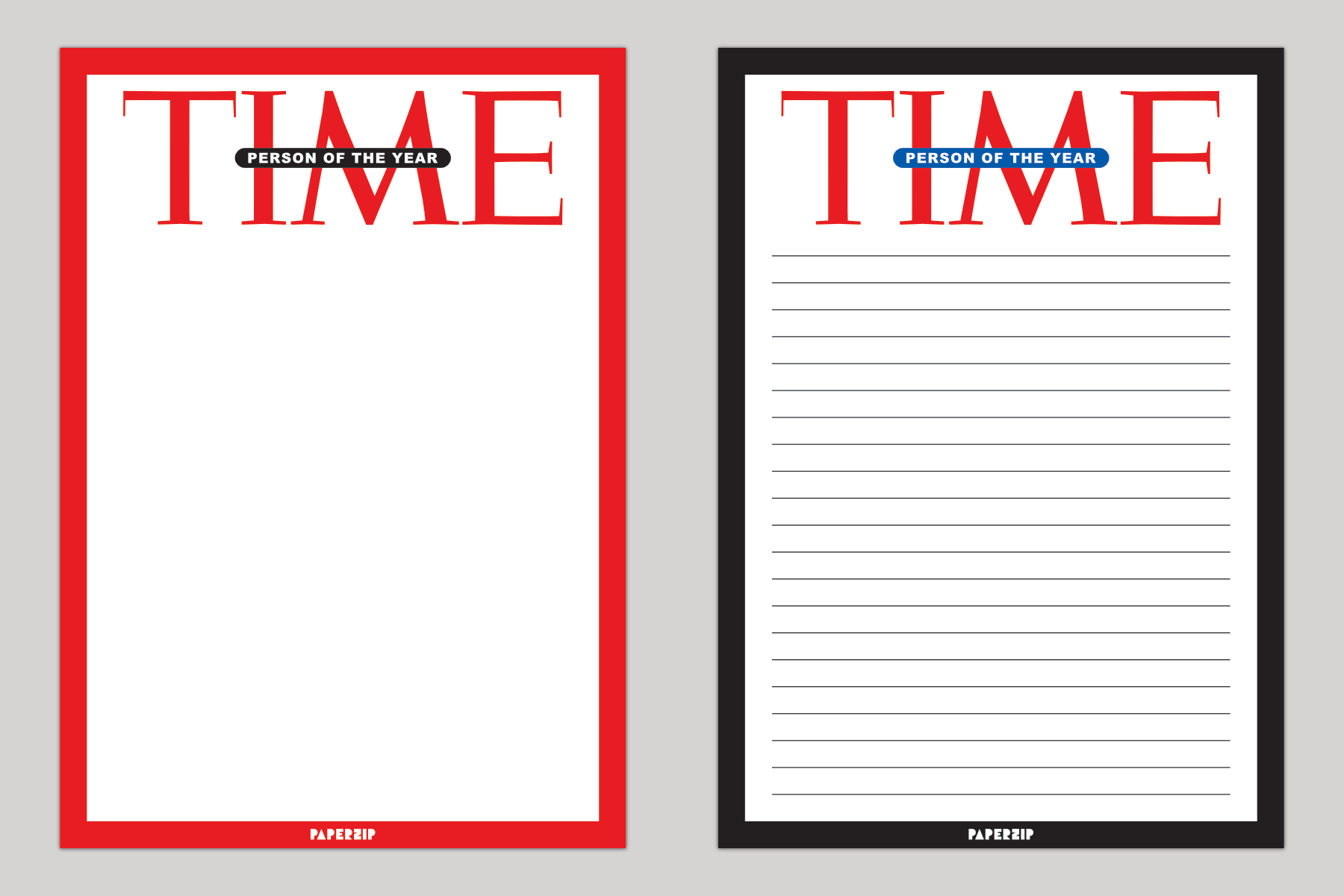 Time magazine person of the year templates paperzip for Time magazine person of the year cover template
