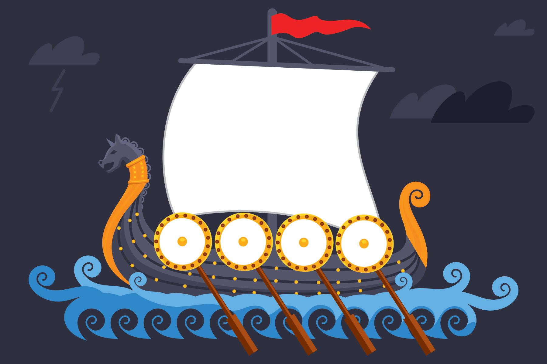 Free Blank Viking Ship Template