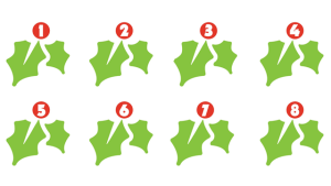 christmas holly numbers for classroom display at christmas