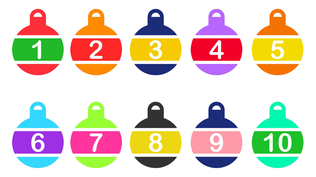 christmas bauble numbers for the classroom