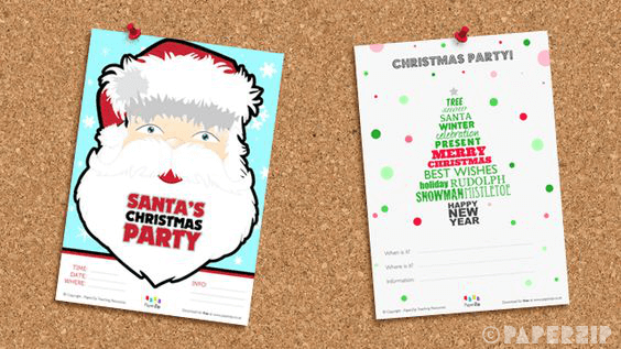 free christmas party posters printable