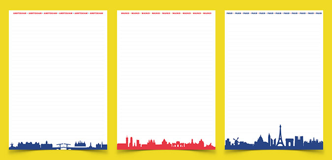 cities of europe writing templates free printable