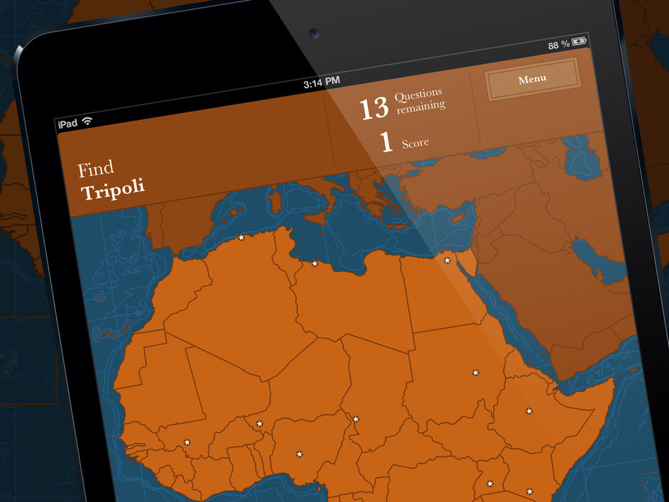 maps of our world ipad app quiz