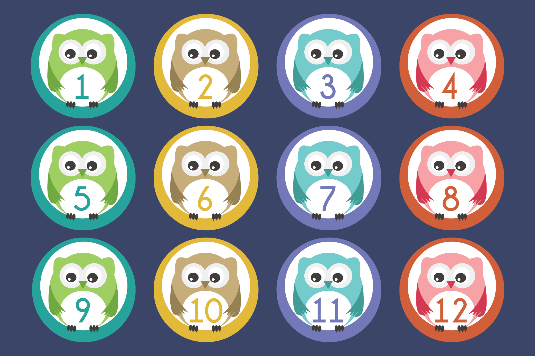 owl numbers 1-20