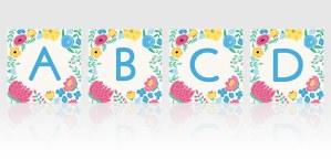free flower alphabet spring display