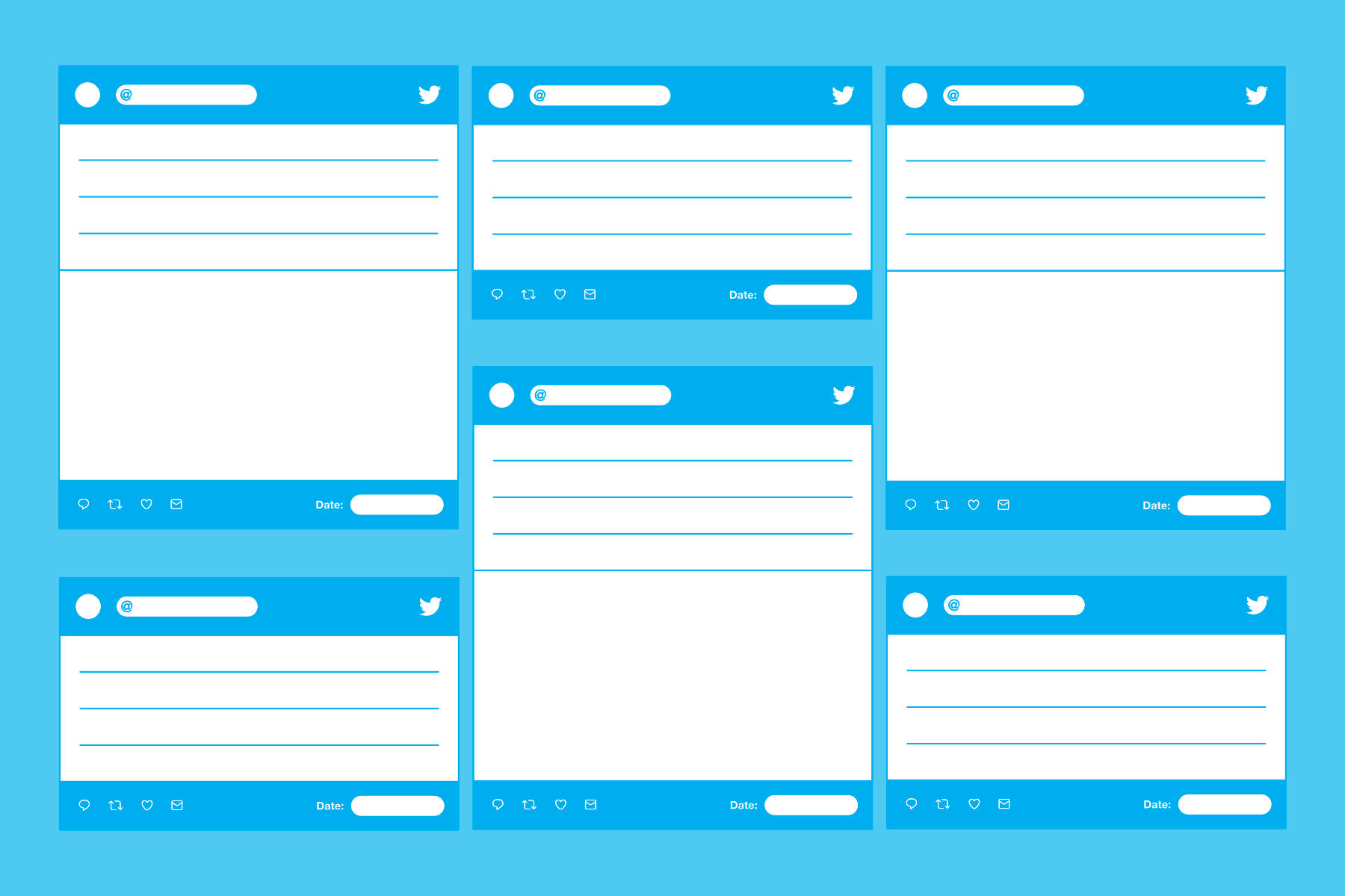 picture about Printable Twitter Template referred to as Tweet Templates - PAPERZIP