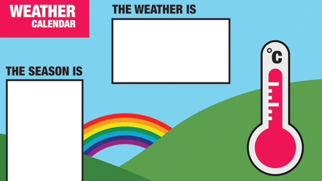 free printable weather calendar for children