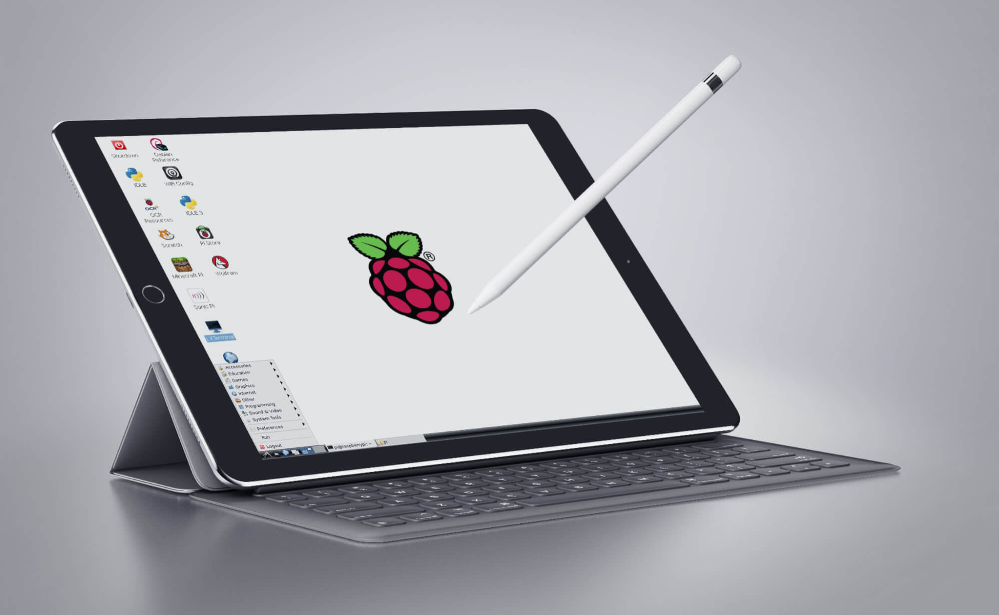 raspberry pi pixel on an ipad pro