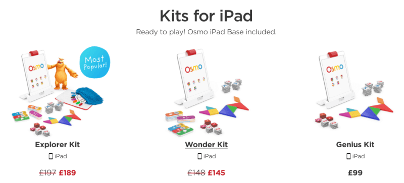 osmo ipad accessory pricing uk