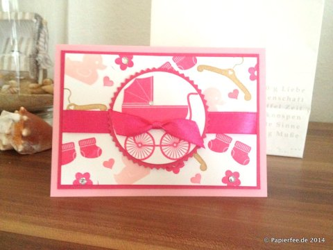 Something for Baby, Stampin Up, Babykarte, Mädchen