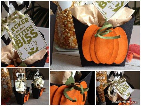 Pommer Schachtel, Halloween, Kürbis, Punchart, Stampin'Up! Für dich, Gastgeschenk, Verpackung