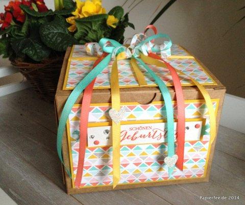 Sale-a-Bration 2015, Designerpapier, Die schönste Zeit, Curry-Gelb, Jade, Calypso, Geschenkband, Glitzersteine, Geschenkboxen, Süße Pünktchen, SAB 2015
