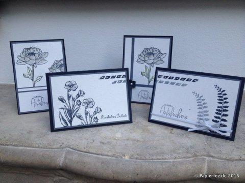 """Stampin'Up! Trauerkarte, Schmetterlingsgruß, Alles wird gut, Stanze """"Kleine Blüte"""", Colorieren, Wassertankpinsel"""