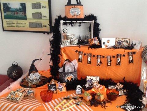 Stampin'Up! Halloween, Orange, Schwarz, Projektset Schöne Schauernacht, Designerpapier Geisterstunde, Stempelset Howl-o-ween Treat