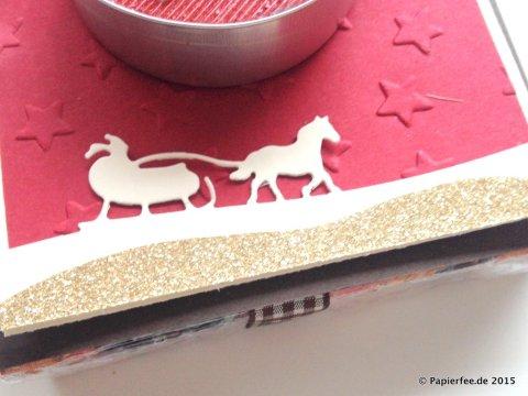 Stampin'Up! Weihnachten, Geschenkidee, Zieh-Verpackung, Chili, Espresso, Vanille, Edgelits Schlittenfahrt, Herbst-/Winterkatalog 2015