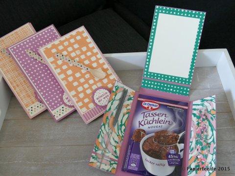 Stampin'Up!, Tassenkuchen, Designer-Motivklebeband Kunterbunt, Designerpapier im Block Kunterbunt, Kirschblüte, Vanille, Zarte Pflaume, Pfirsich Pur, Smaragdgrün