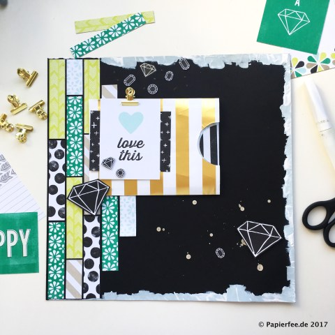 Stampin'Up! Papierfee, BlogHop Memories and More, Erinnerungen und Mehr, Kartenset Perfekter Tag, Layout, Scrapbooking
