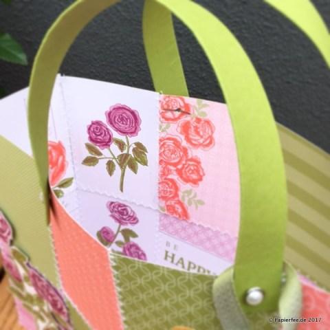 Stampin'Up! Kartensortiment Erinnerungen und Mehr Blumengarten, Handtasche aus Papier