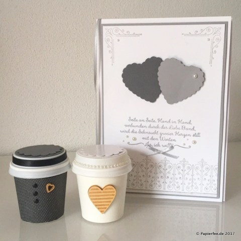 Stampin'Up!, Basteln, DIY, Geldgeschenk Idee, Geldgeschenk zur Hochzeit selbermachen, Glückwunschkarte zur Hochzeit, Hochzeitskarte basteln, Brautpaar aus Papier,