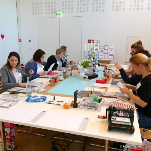 Stampin'Up! Workshop, Dekothema Alice im Wunderland, Verrückter Hutmacher, Teeparty, Workshopwochenende, Jenni Pauli, Katharina Papierfee, Frühjahr-/Sommerkatalog 2018, Tischdeko Alice im Wunderland