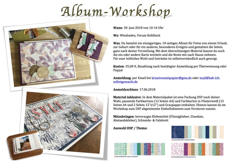 Stampin'Up!, Album-Workshop