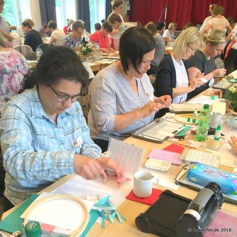 Stampin'Up!, Dekoration Gastgeschenk, Workshop, Jubiläum Jenni Pauli, Erdbeeren, Margeriten, Wimpelkette, Candybar