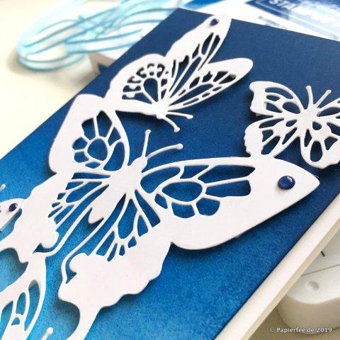 Stampin'Up! Frühjahr-/Sommerkatalog 2019, Schmetterlinge, Thinlits Formen Schöne Schmetterlinge, Grußkarte, Karten selber basteln, Farbverlauf, Stempeltechnik