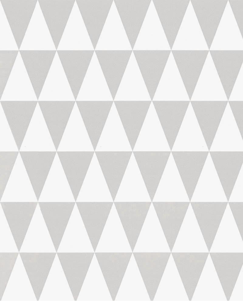 papier peint esta home little bandits triangle gris et blanc 128842