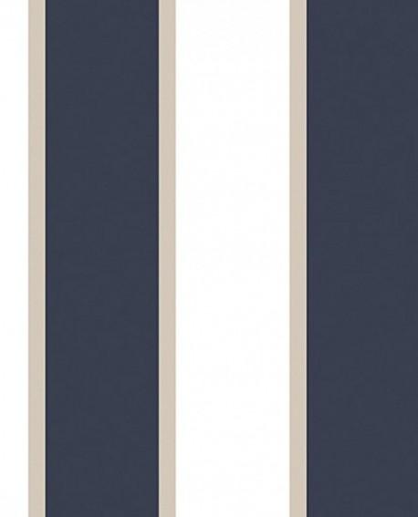 papier peint lutece jeux de rayures 2 rayure bleu marine et blanc g67550