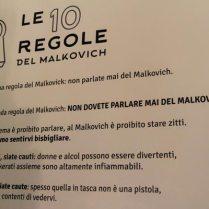le regole del Malkovich